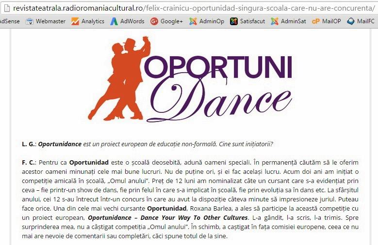 Oportunidance Project